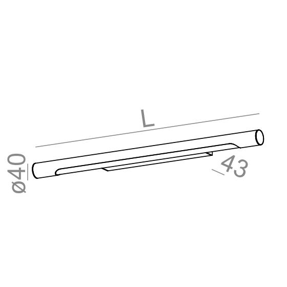 AQform  Thin Tube 26410-L930-D9-00-03 Kinkiet