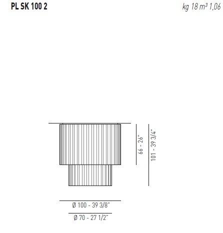 AXO Light Skirt PL 100 2  Plafon biały 100 cm