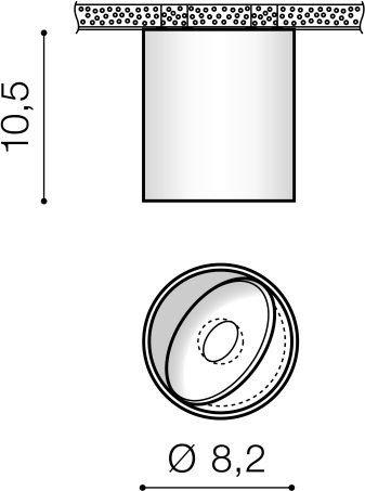 Azzardo Boston Spot LED AZ3469 Biały