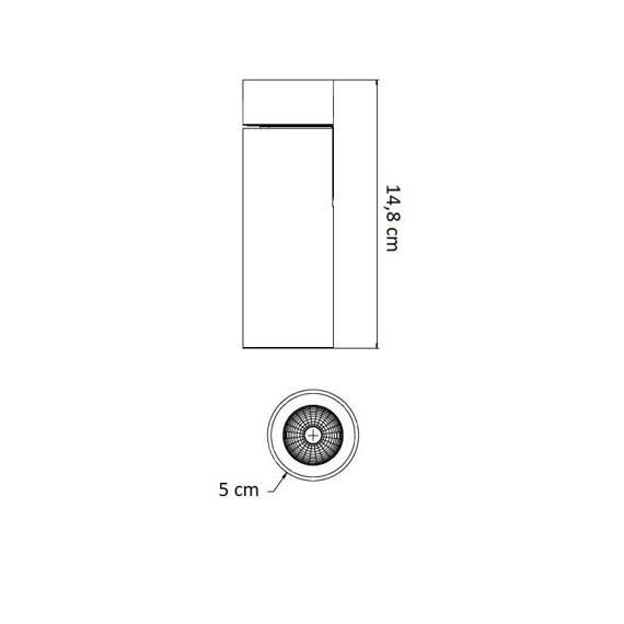 Berella Light Basi BK / GD BL5177 Spot Reflektor Sufitowy