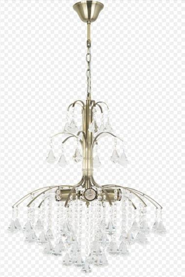 Elem Monte Carlo 6246/6 21QG+TR mosiądz Żyrandol kryształowy