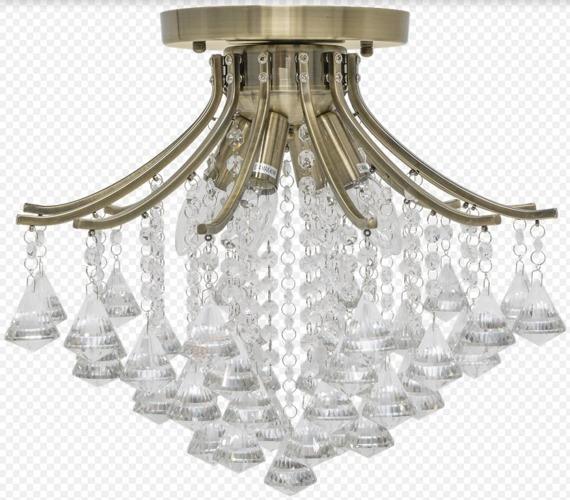 Elem Wenecja 5192/4 21QG mosiądz Lampa Sufitowa kryształowa