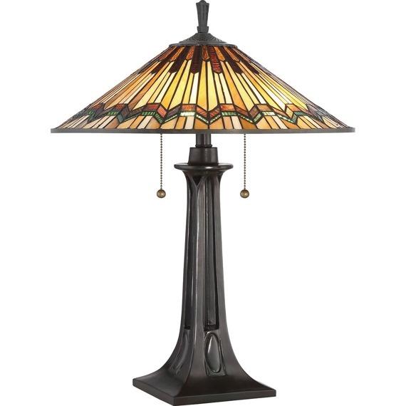 Elstead Lighting Alcott QZ/COBALT/TL Lampa stołowa