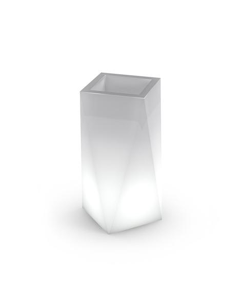 Eris PL-ER80-LIGHT Biała PD Concept 80 cm Donica Podświetlana