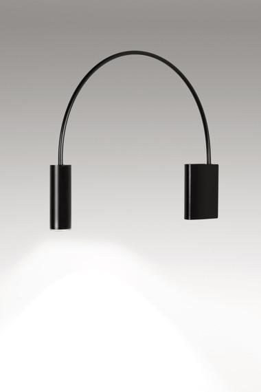 Lampa ścienna Estiluz Volta A-3530 czarna
