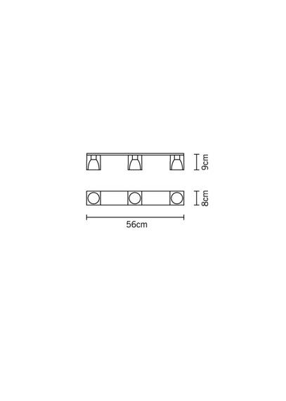 Fabbian CUBETTO BLACK D28 E03 02 Plafon