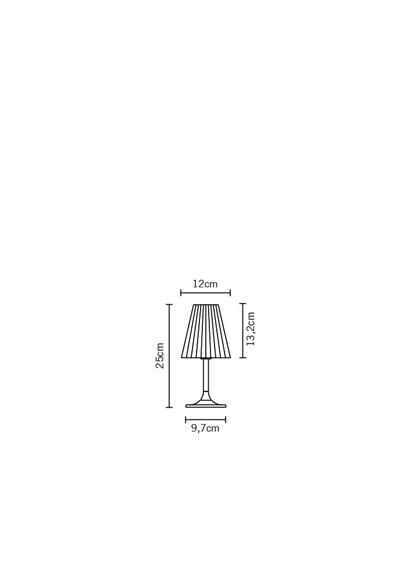 Fabbian FLOW D87 B01 00 cristal Lampka