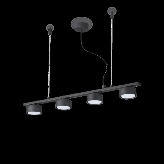 Ideal Lux Minor Linear SP4 Żyrandol nad stół czarny