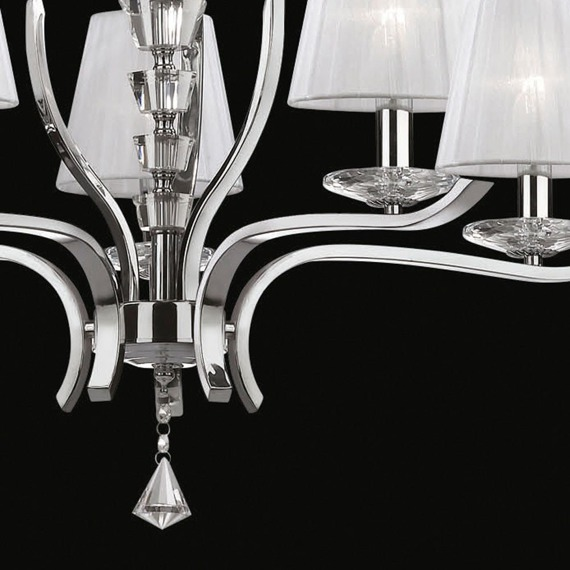 Lampa z białymi kloszami IDEAL LUX Pegaso SP8