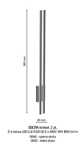 Lampa ścienna Amplex Ebora 0646