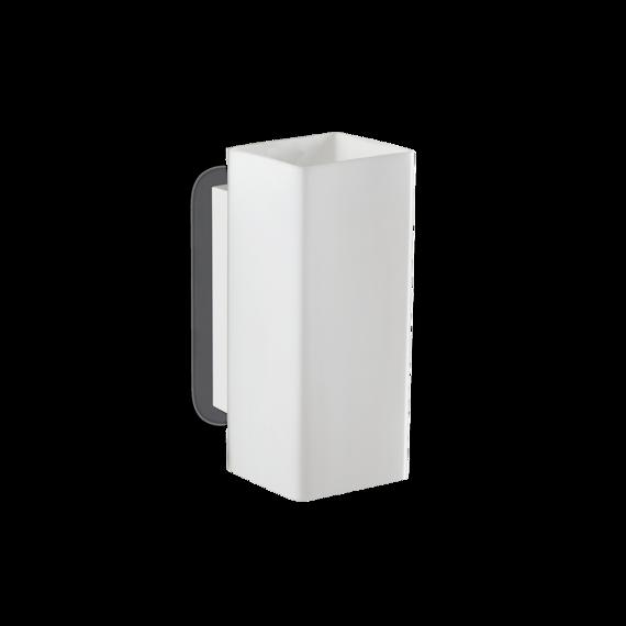 Lampa ścienna prosta biała Ideal Lux Paul AP2 Square