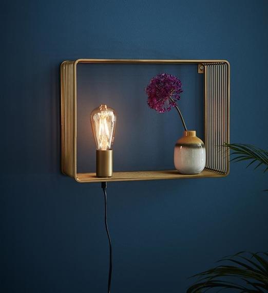 Lampa ścienna złota Markslojd Shelf 107815