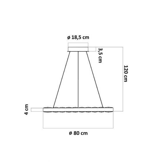 Lampa wisząca Berella Light Moloko 80 BL5431