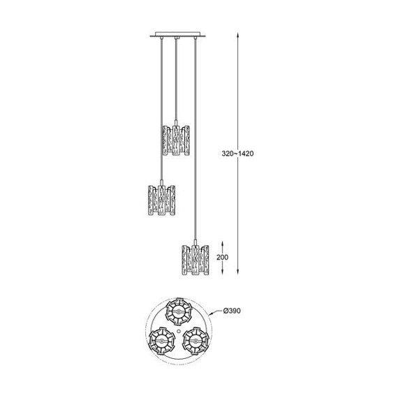 Lampa wisząca Zuma Line Froze P0509-03D-B5AC