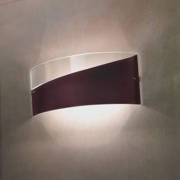 Lampade Italiane CAPOCABANA prawy brąz Lampa Ścienna