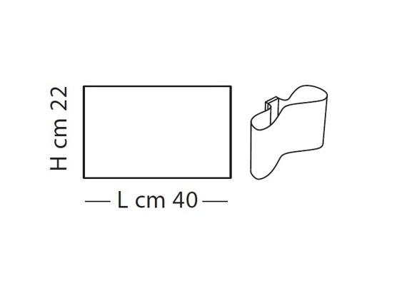 Lampade Italiane MUGELLO LP 1051/40 biała Lampa Ścienna