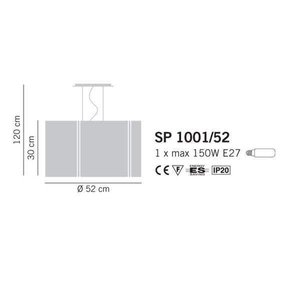 Lampade Italiane REFLEX 1001/52 orange Lampa Wisząca 52 cm