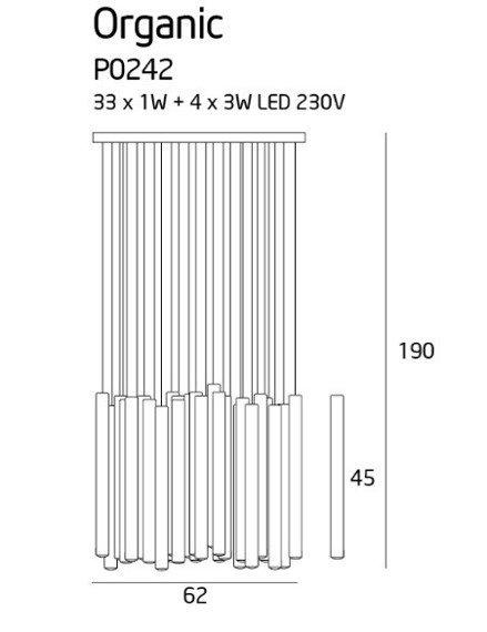 MaxLight Organic P0242D Lampa wisząca ze ściemniaczem