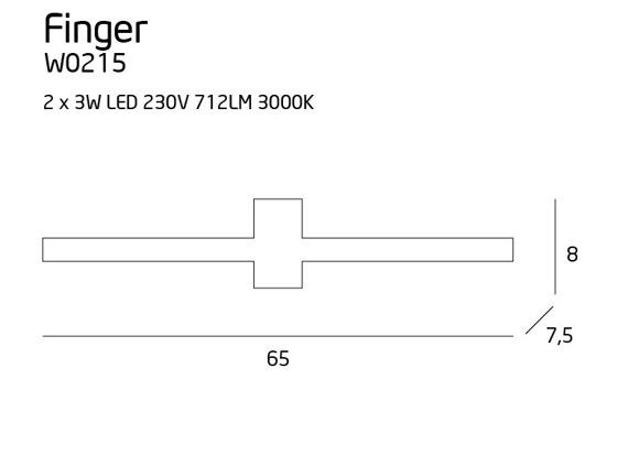 Maxligh Finger W0215 Lampa Ścienna