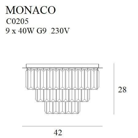 Monaco C0136 Maxlight Plafoniera