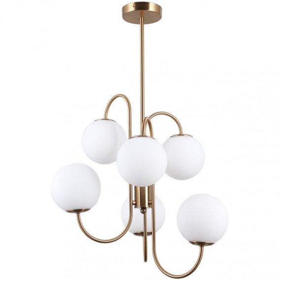 Nowoczesna Lampa wisząca Italux Gela białe kule