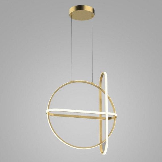 Nowoczesna Lampa wisząca w kolorze złotym Italux Cerrila LED