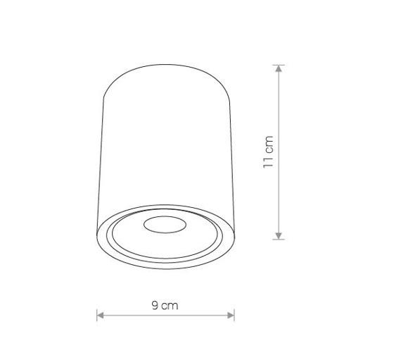 Nowodvorski Edesa Led M 9108 Plafon zewnętrzny Biały