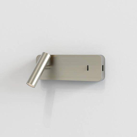 Oprawa Ścienna Astro Enna Surface USB 1058155 Nikiel