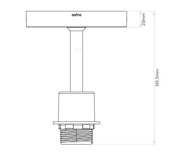 Plafoniera Astro Semi Flush Unit 1362004+5016013