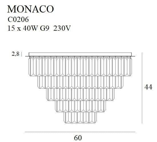 Plafoniera Złota Maxlight Monaco C0206