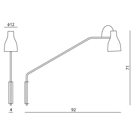 Ramko Lotta 66153 biała Lampa ścienna