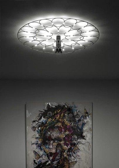 Sforzin Lafra Media Nero Lampa Sufitowa