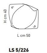 Sillux ATENE LS 5/226 Lampa Sufitowa 50 x 40 cm