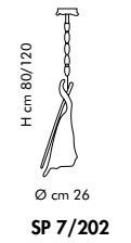 Sillux KINGSTON SP 7/202 03 miedziany Zwis