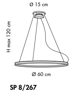 Sillux MALE SP 8/267 zwis LED