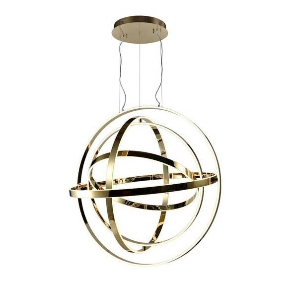 Złota Lampa Wisząca Duża Kula Milagro Copernicus 180 W Led ML6152