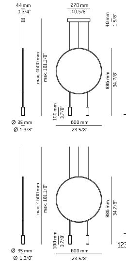 Zwis Estiluz Revolta T-3636-M czarna