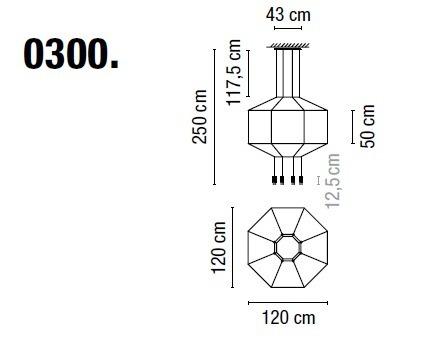 Zwis Wireflow 0300-04 Vibia czarna 120 cm