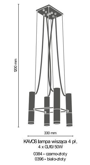 Żyrandol Amplex Kavos 0384