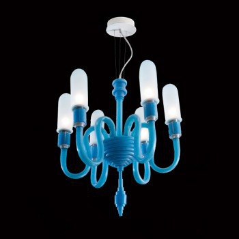 Żyrandol Facon de Venice MAMO 6L sky blue + nakładki