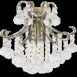 Elem Barcelona 6245/1 21QG mosiądz Lampa Ścienna kryształowa